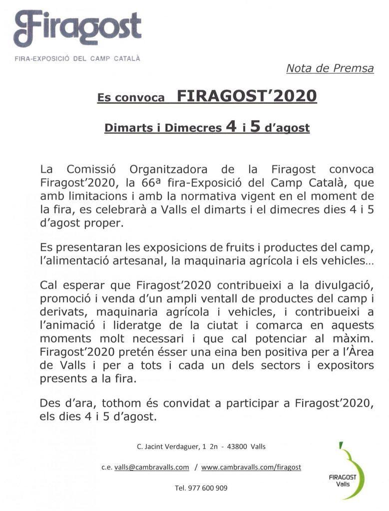 FirAgost a Valls (Suspesa)